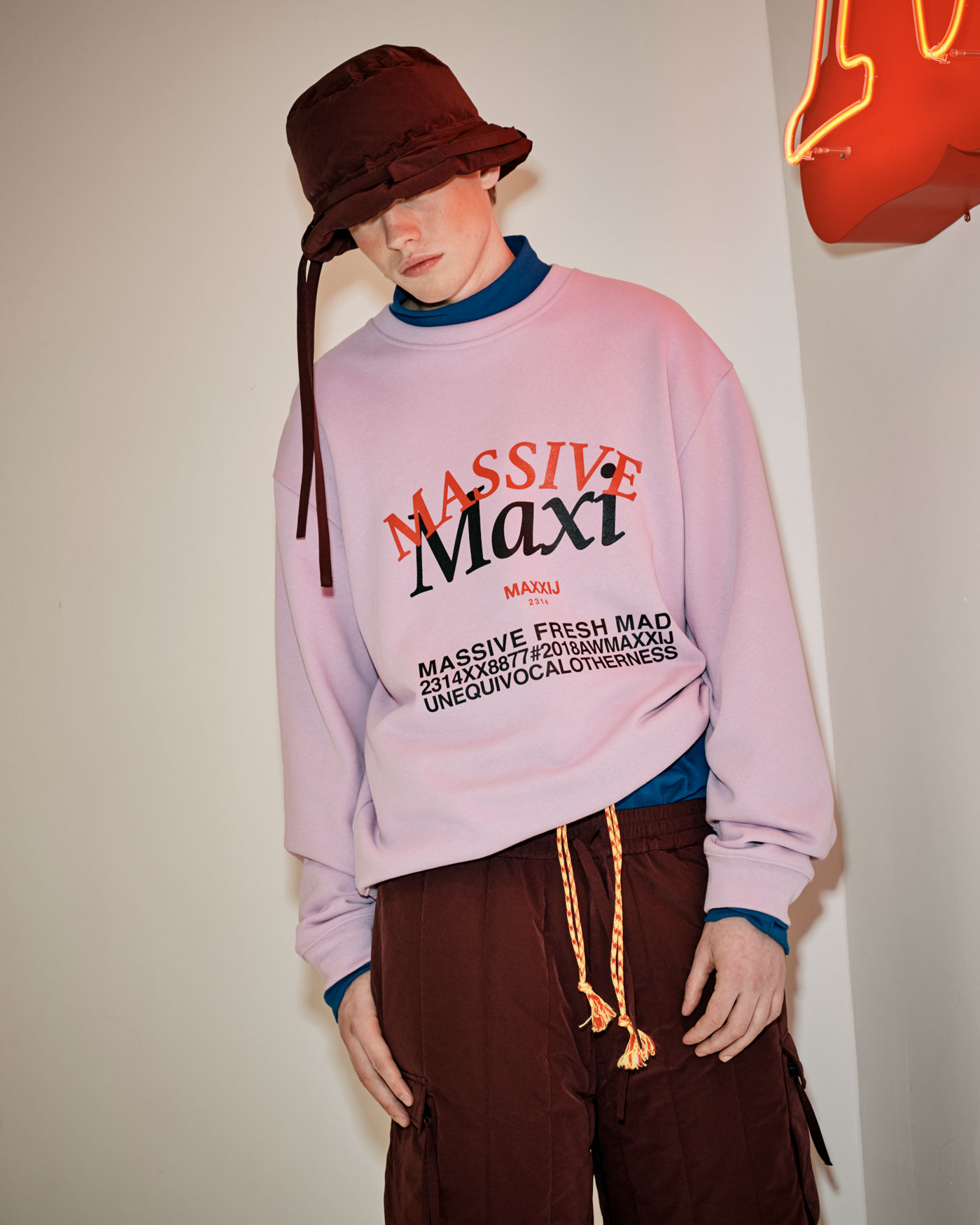'MAXI' Printed Sweatshirt Purple