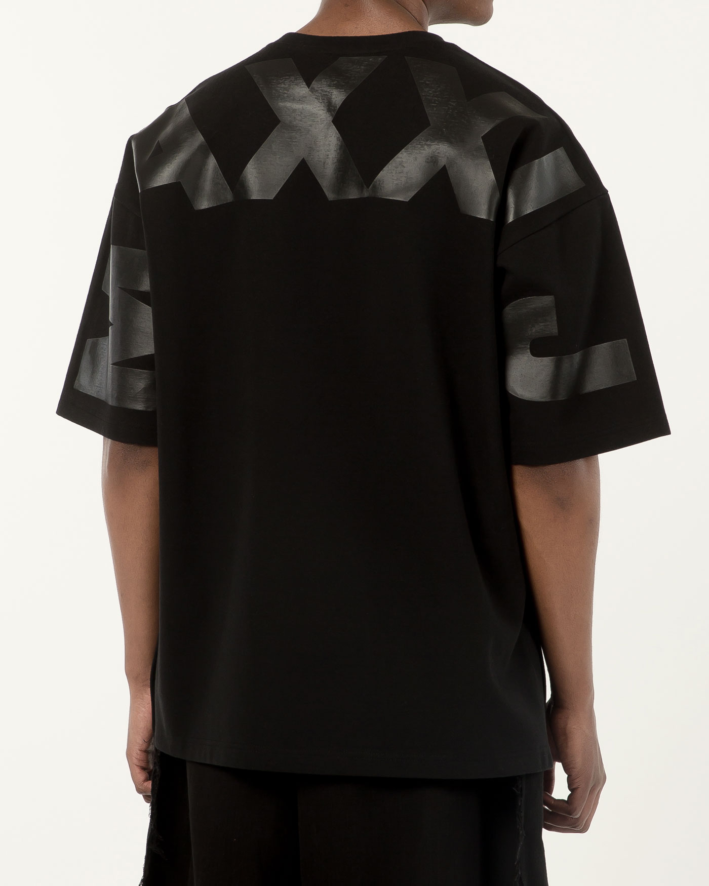 Oversized Big Logo Printed Tshirt Black