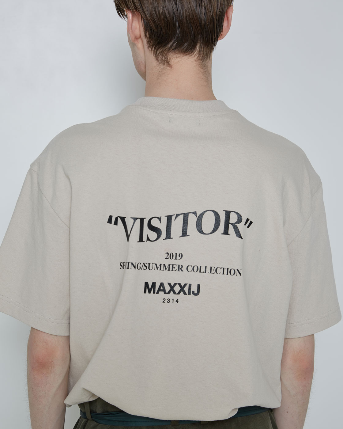 'Visitor' T-shirt Beige